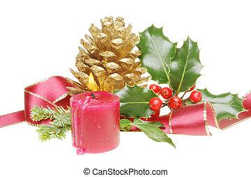 Christmas ribbon decoration