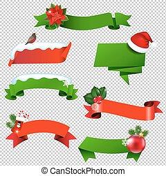 Christmas Ribbon Set Isolated