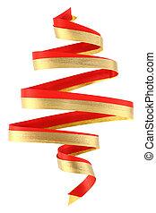 Christmas ribbon tree