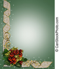 Christmas Ribbons Border Design