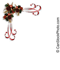 Christmas Ribbons Corner Design - Image and illustration...