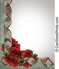 Christmas Ribbons Corner design - Image Composition for...