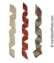 Christmas Ribbons set of 3 isolated