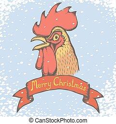 Rooster vector illustration