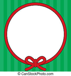 Christmas Rope Wreath Frame - Christmas themed frame with a...