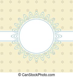 Christmas round frame with place for text