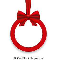 Christmas round paper card