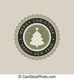 Christmas round sign of a light green hue.