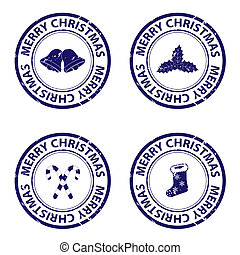 Christmas rubber stamps