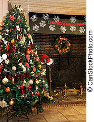 christmas rural, árvore