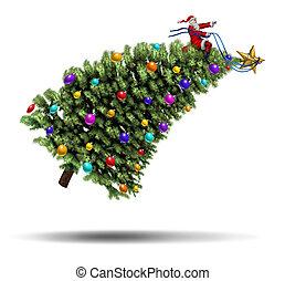 Christmas Rush - Christmas rush and bustle winter holiday...