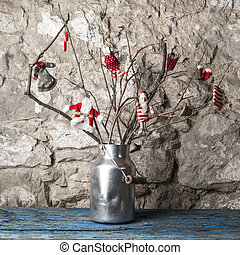 Christmas rustic tree