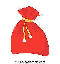 Christmas sack cartoon icon