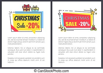 Christmas Sale -20 Off Banners with Text, Adverts