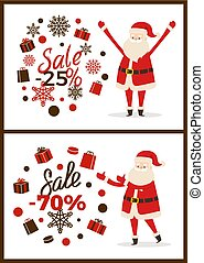 Christmas Sale Advertisement Vector Illustration