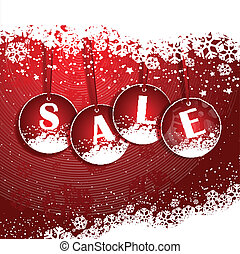 Christmas Sale background - Christmas background with...