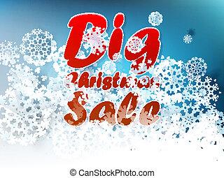 Christmas sale background.