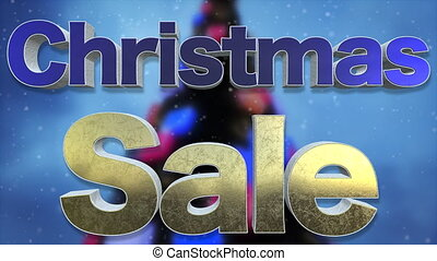 Christmas Sale Background Loop - Christmas Sale 3D Text...