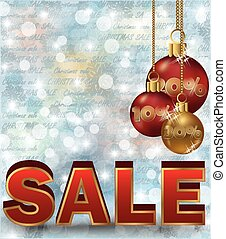 Christmas sale background, vector