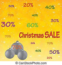 Christmas sale background .