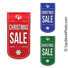 Christmas sale banner design set