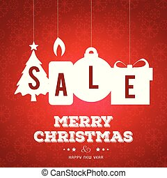 Christmas sale banner with pattern