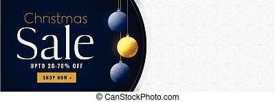 christmas sale banner with text space
