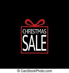Christmas sale box icon