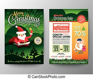 Christmas sale Brochure Flyer design Layout vector template