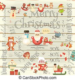 Christmas Sale Card - Christmas Sale Poster in Retro Style ...