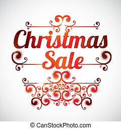 Christmas sale card over white background vector ...