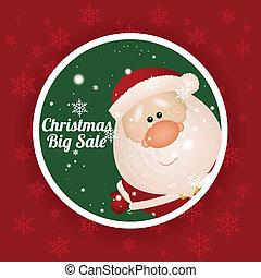 Christmas sale - Christmas big sale label on special ...