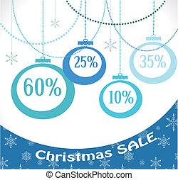 christmas sale, christmas decoration and balls