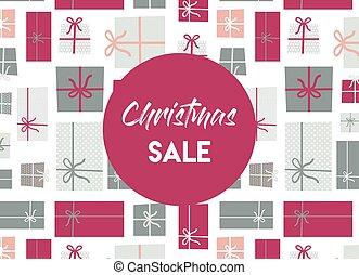 christmas sale. christmas present background.