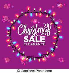 Christmas Sale Clearance on Vector Illustration
