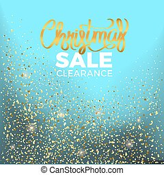 Christmas Sale Clearance Vector Illustration