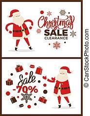 Christmas Sale Clearance, Vector Illustration