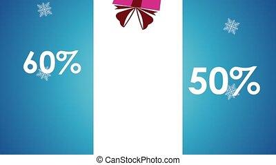 Christmas sale concept HD animation