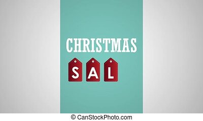 Christmas sale concept HD animation