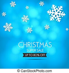 Christmas sale design template. Vector illustration