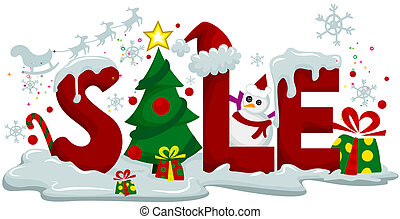 Christmas Sale with Clipping Path