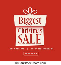 christmas sale gift red banner