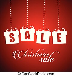 Christmas sale giftboxes typographic