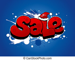 Christmas sale illustration. - Christmas sale vector ...