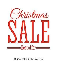 Christmas Sale inscription. Vector illustration.