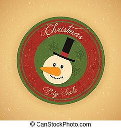 Christmas Sale Label