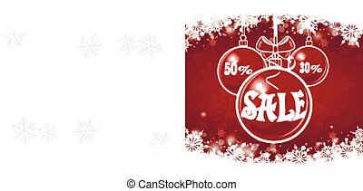 Christmas sale on red background. merry Christmas.