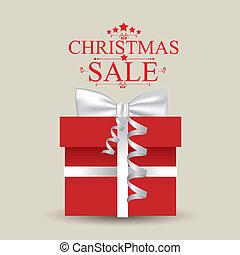 Christmas sale over beige background vector illustration