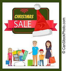Christmas Sale Promo Banner Vector Illustration