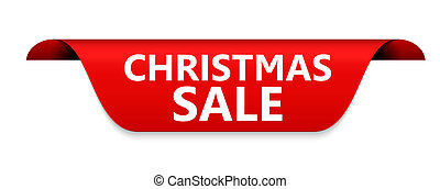 Christmas Sale Red Label Vector Illustration